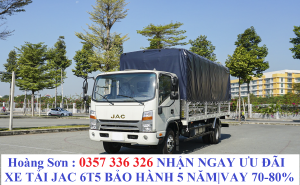 Xe tải JAC 6t5 N650 Plus máy cumin Mỹ thùng dài