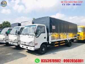 xe tải isuzu 1.9 tấn thùng dài 6 mét, giá xe tải thùng dài