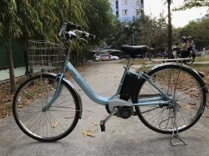 Bán xe đạp điện Panasonic trợ lực – tay ga hàng Nhật bãi giá rẻ Tp HCM