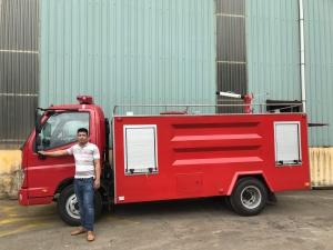 Bán xe chữa cháy, xe cứu hỏa 4,5 khối Thaco olin