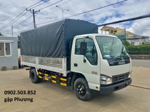 Xe tải ISUZU QKR270 Thùng Mui Bạt mới 100% -1,9 tấn - 4m3-Trả góp