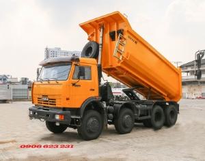Ben Kamaz 6540 (8x4) thùng ben 15m3 ~ Bán xe ben Kamaz 4 chân