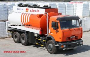 Xe xăng dầu Kamaz 3 chân | Bán xe bồn xăng dầu Kamaz 18m3 tại Bình Dương