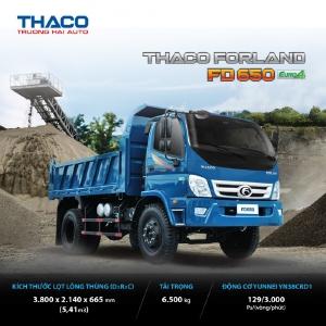 bán xe tải ben 6.5 tấn tại hải dương fd650