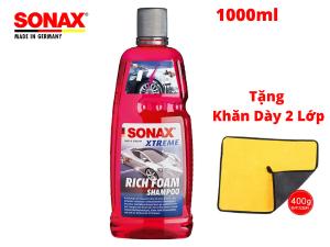 Nước Rửa Xe Sonax ,Rửa Xe Bọt Tuyết Sonax Xtreme Rich Foam Shampoo 1000ml Tặng Khăn Microfiber-248300