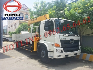 HINO FG gắn cẩu Soosan525 thùng 6,5m (Mới 100%)
