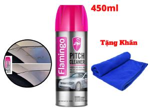 Dung Dịch Tẩy Nhựa Đường, Tẩy Keo Flamingo Pitch Cleaner F012 450ml Tặng Khăn
