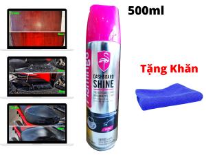 Dung Dịch Làm Mới Dưỡng Nhựa Nhám Bóng Da Gỗ Cao Su Flamingo Dashboard Shine F096 500ml Tặng Khăn