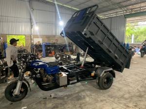 Xe ba gác máy xăng thắng dầu bánh đôi 250cc Phuộc đại 60li