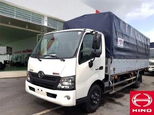 Xe tải Hino XZU720L thùng mui bạt tải trọng 3.49 tấn thùng dài 5m2