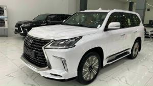 LEXUS LX570 SUPER SPORT 2021, màu trắng, nội thất kem, mới 100%, xe giao ngay.