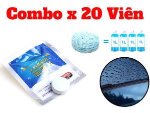 Combo 20 Viên Nén Rửa Rửa Kính Ô Tô Rửa Kính Xe Hơi-VSRK020