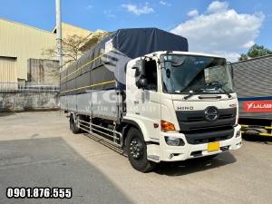 Xe tải Hino FG thùng bạt dài 10m/ xe tải 7m3 hỗ trợ trả góp lên đến 80%
