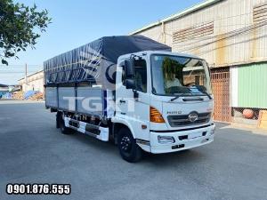 Xe tải Hino FC/ xe tải 6t5 thùng bạt dài 5m6/ giá ưu đãi hỗ trợ vay cao