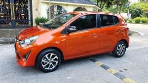 Toyota Wigo đời 2019, số tự động nhập Thái, màu đỏ cam