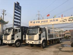 Xe tải FAW 7 tấn thùng 9m7, 3 cửa hông