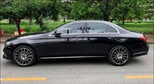 Mình cần bán xe Mercedes E200 2016 đăng ký 2017, số tự động, màu đen