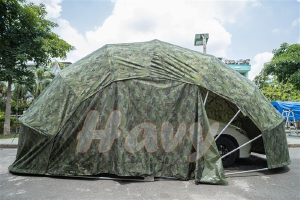 Nhà bạt di động tại thành phố Hồ Chí Minh, mái che xe màu xanh quân đội,