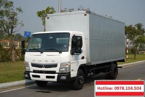 Mua bán tải Mitsubishi Fuso Canter TF7.5 thùng mui bạt, thùng kín 3,5T.