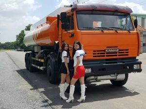 Xe bồn xăng dầu 23m3 kamaz