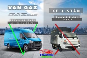 Lưu thông ra vào nội ô 24/24 cùng Xe tải VAN GAZ 3 (chổ)