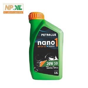 Dầu Động Cơ Xe Máy Nano 1, Api Sg/sae 20w50 - 800ml