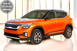 Kia Seltos 1.4T Luxury màu cam đen giao liền