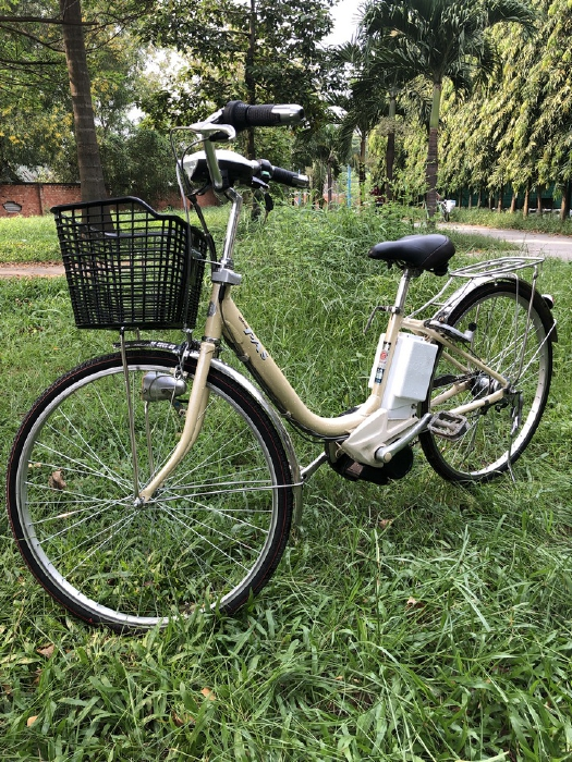 Bán xe đạp điện trợ lực tay ga hàng Nhật bãi cũ giá rẻ Tp HCM – Mã: X17