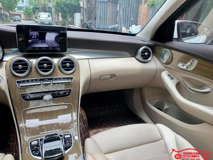 Xe Chính Chủ bán Mercedes C250 Exclusive 2017 màu trắng nội thất kem sang trảnh và lịch lãm, giá tốt 5