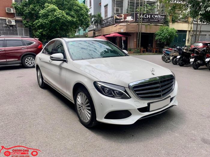 Xe Chính Chủ bán Mercedes C250 Exclusive 2017 màu trắng nội thất kem sang trảnh và lịch lãm, giá tốt 13