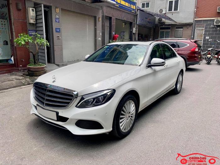 Xe Chính Chủ bán Mercedes C250 Exclusive 2017 màu trắng nội thất kem sang trảnh và lịch lãm, giá tốt 10