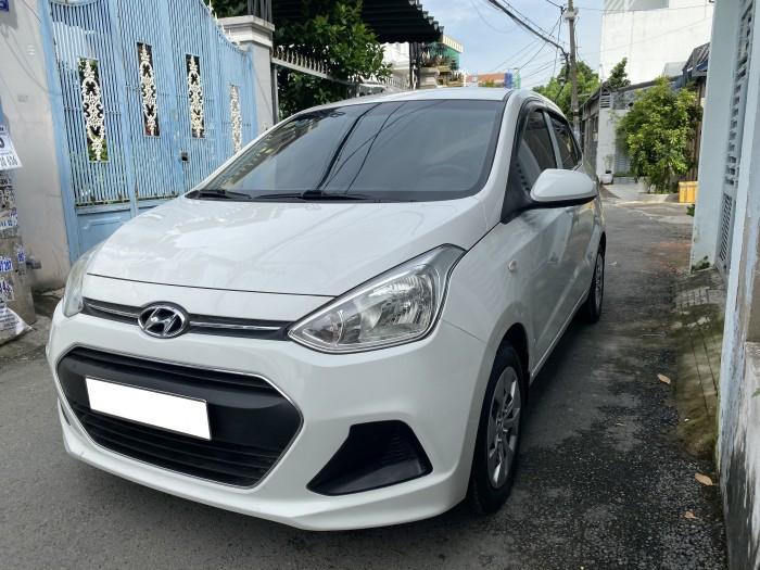 Cần bán xe i10 2017, số sàn, màu trắng tinh ngọc trinh còn mới tinh 10