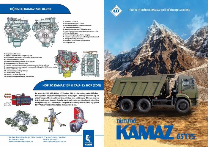 Xe ben Kamaz 15 tấn mới nhất 2020 | Mua bán xe ben Kamaz 65115 cũ & mới 6