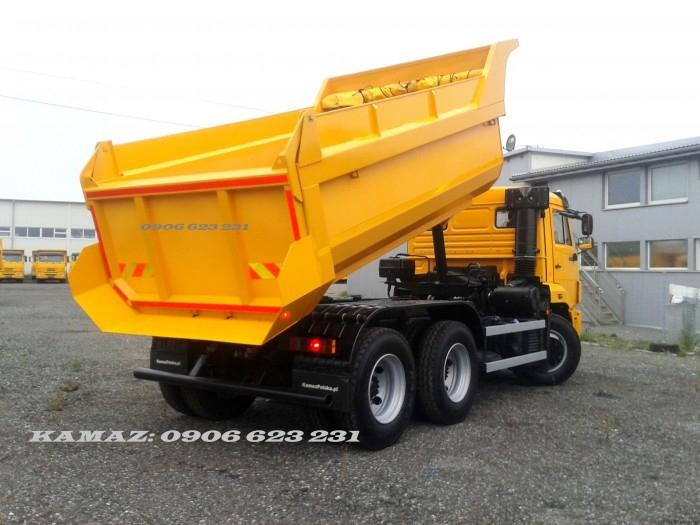 Xe ben 3 chân Kamaz 15 tấn | Bán xe ben 15  tấn Kamaz 65115 (6x4)  tại Đồng Nai & Bình Dương