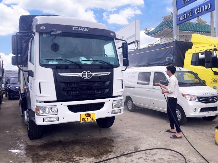 Giá bán xe tải faw 8 tấn thùng dài 8m | xe tải 8 tấn thùng kín chở hàng palet 4