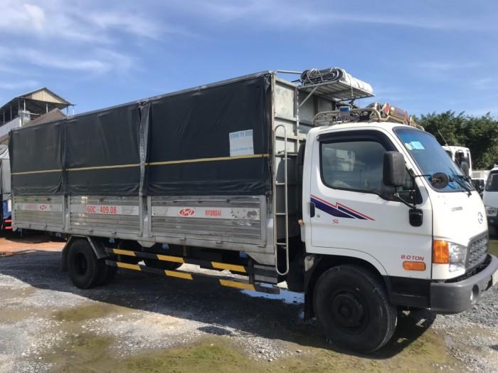 cần bán xe tải hd120sl đời 2017 tải 8t thùng dài 6m3 giá tốt có hỗ trợ góp 7