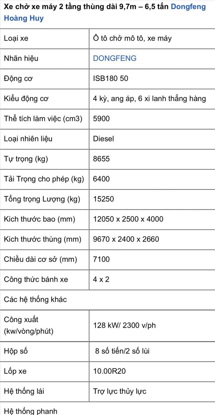 Mua Xe Tải Dongfeng B180, 6,5 Tấn Hoàng Huy Gọi  0969 832 832 - 0969 07 12 73 (Mr Độ Xe Tải Phú Mẫn)