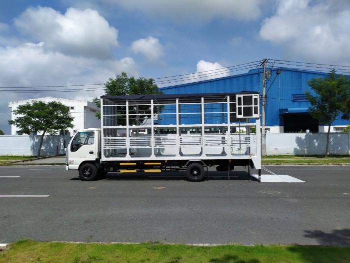 Báo giá xe tải isuzu vm 1,8t Thùng chở xe máy 6,2m bửng nâng