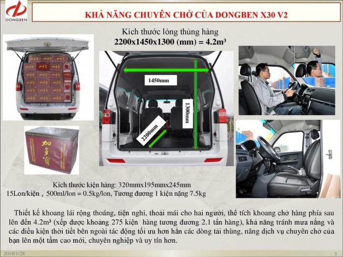 Xe Van Dongben X30 V2 (2 chỗ) | Bán xe Van tại Bình Phước 5
