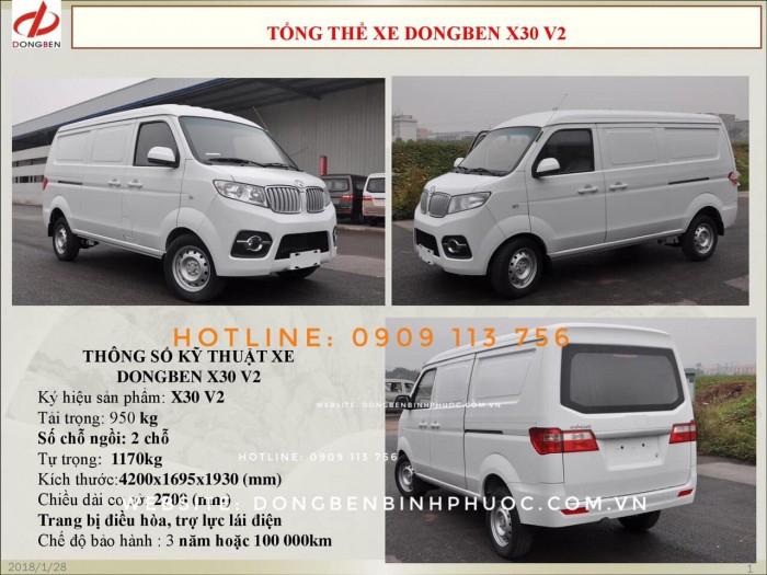 Xe Van Dongben X30 V2 (2 chỗ) | Bán xe Van tại Bình Phước 8