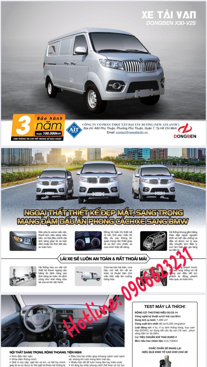 Xe Van Dongben X30 V2 (2 chỗ) | Bán xe Van tại Bình Phước 10
