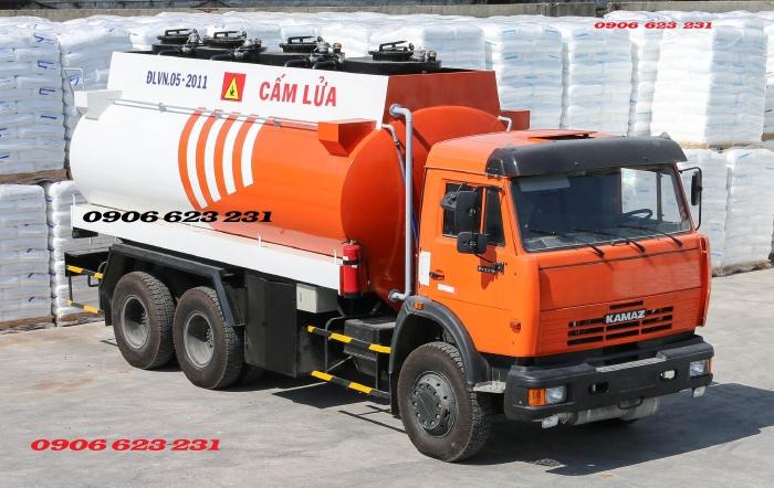 Xe xăng dầu Kamaz 3 chân Bán xe bồn xăng dầu, Bán xe bồn xăng dầu Kamaz 18m3 tại Daknong