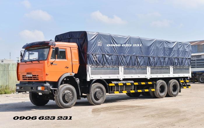Bán Kamaz thùng 4 giò nhập khẩu thùng 9m | Bán xe tải thùng Kamaz 18 tấn Nhập khẩu [ trả góp] thùng 9m