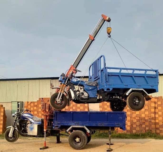 Xe hoa lâm 3 bánh có bửng nâng 2 chiều -ben thuỷ lực đẩy 3,5 tấn tại Xe Ba Bánh Đức Hoàng