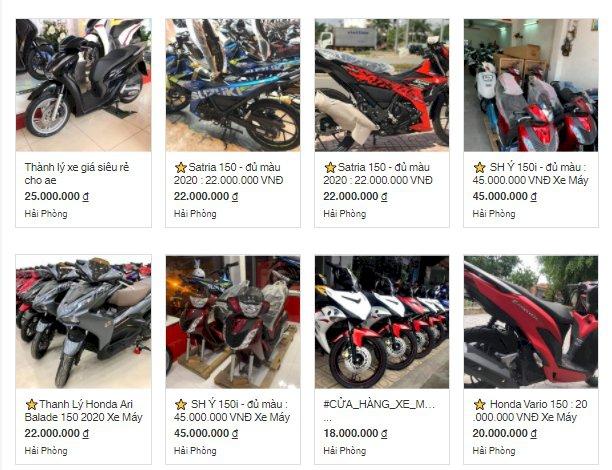 Mua xe máy nhập khẩu giá rẻ: đặt cọc rồi không thấy hồi âm