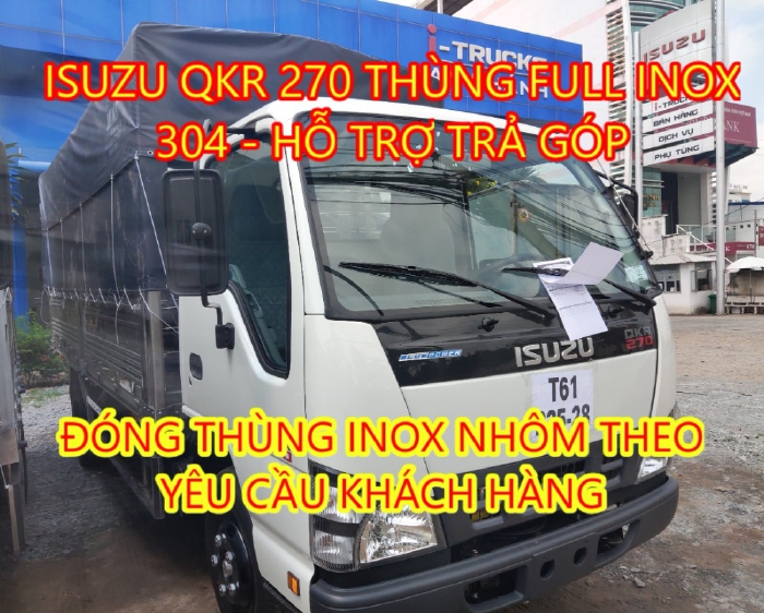 Giá xe tải Isuzu 1.9 tấn QKR 270 2021 Full Inox 304